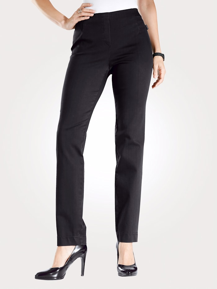 MONA Pull-on trousers made from a comfortable fabric, Black