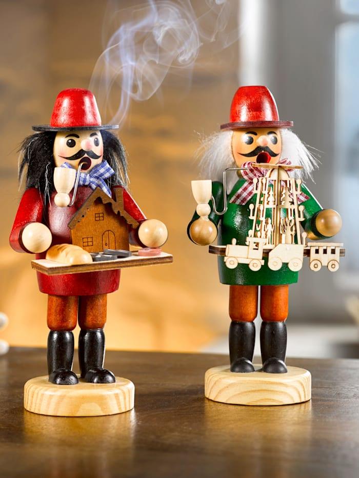 Prydnadsfigurer för rökelse, flerfärgad