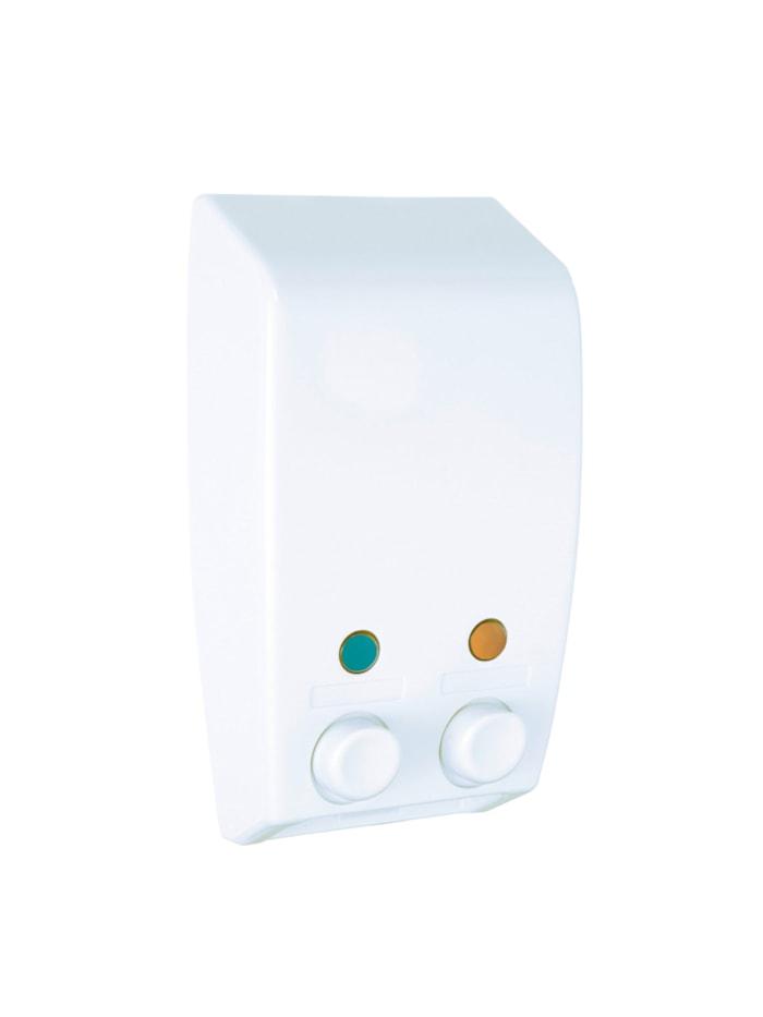 Wenko 2-Kammer Seifenspender Varese Weiß, Weiß