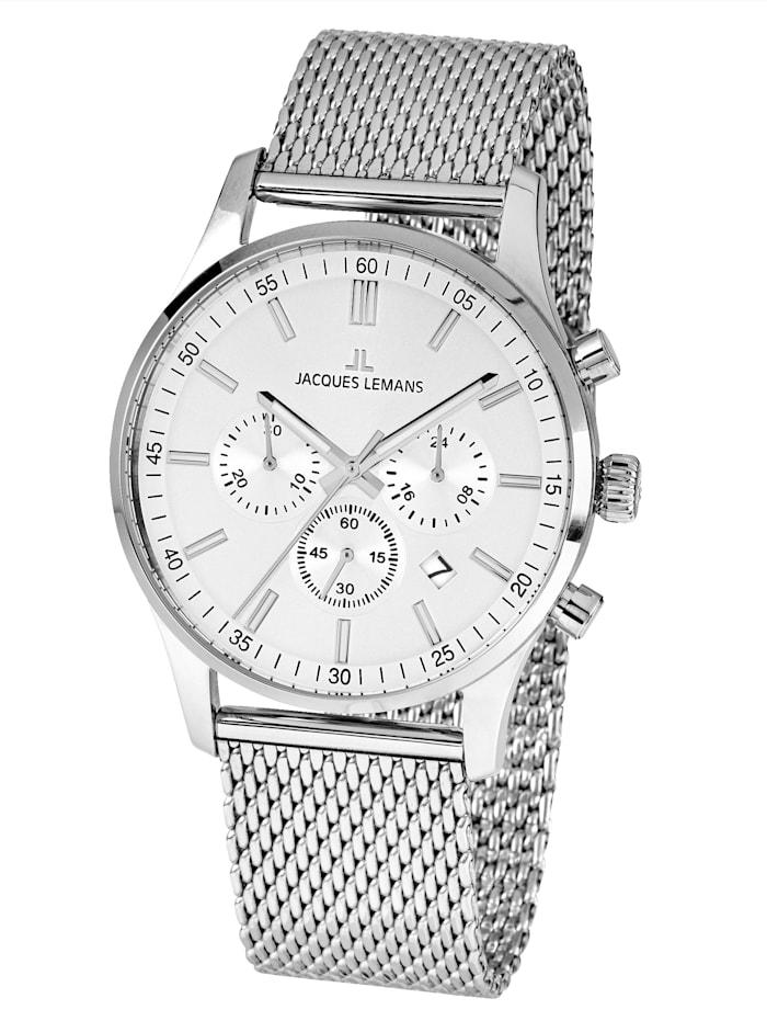 Jacques Lemans Herrenuhr-Chronograph Serie: London, Kollektion: Classic 1-2025G, Silberfarben