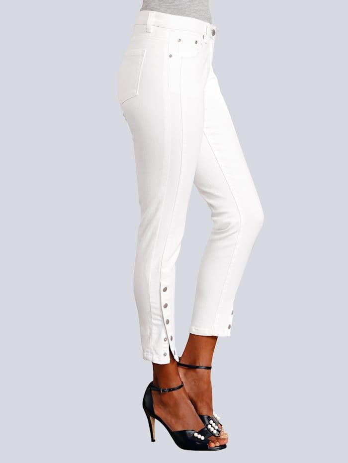Skinny Fit džíny s druky na zakončení