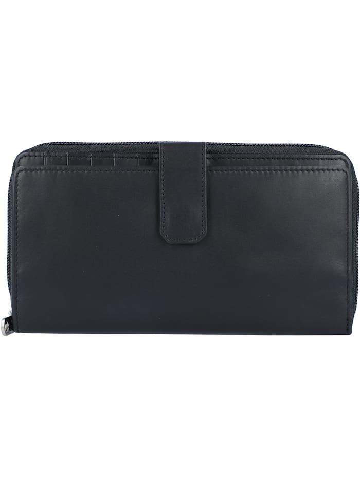 Esquire New Silk Geldbörse Leder 19 cm, schwarz