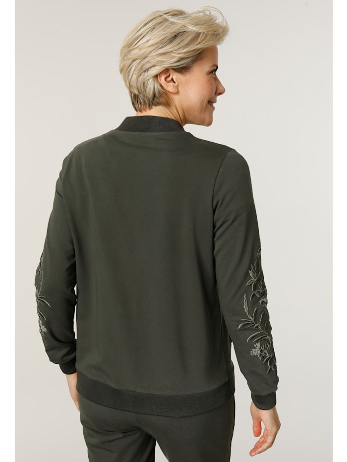 Sweatjacke in Blousonform