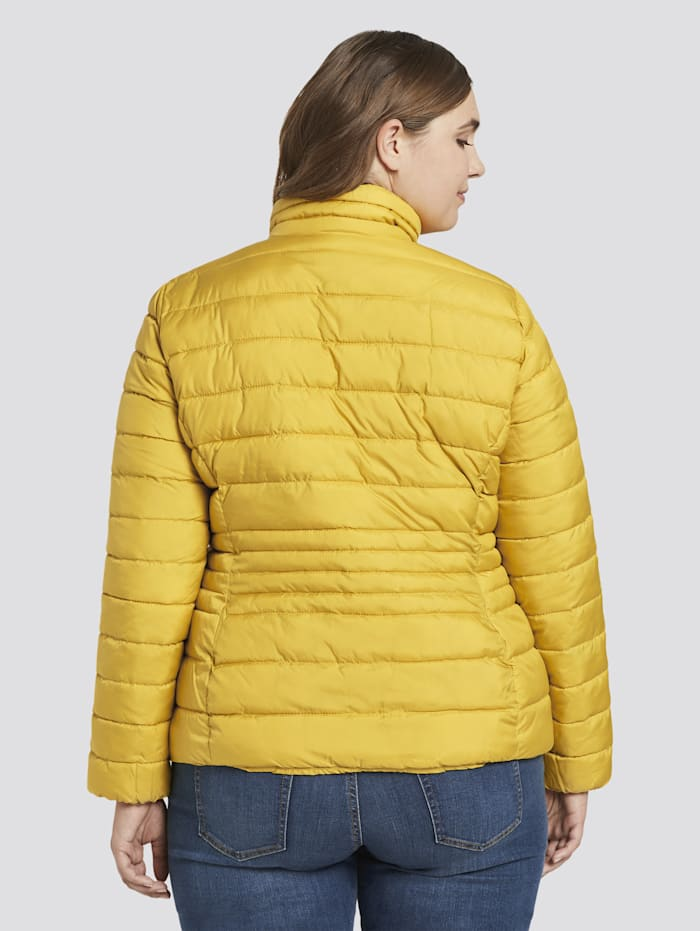 MY TRUE ME by Tom Tailor Lightweight Steppjacke mit Stehkragen, california sand yellow