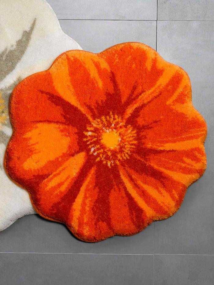 """Grund Kylpyhuonesarja """"Kukka"""", oranssi"""