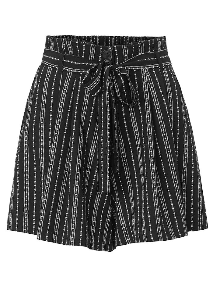 REKEN MAAR Shorts, Schwarz