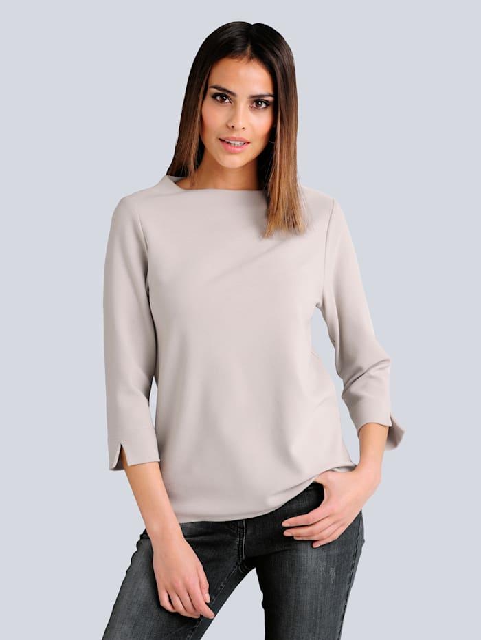 Alba Moda Shirt in strukturierter Qualität, Beige