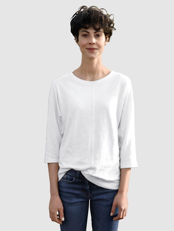 Dress In Shirt mit schöner Teilungsnaht, Off-white
