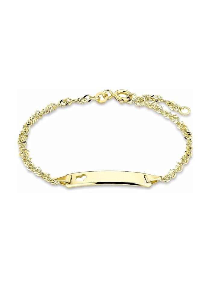 amor Identarmband Unisex, Gold 375, Herz, Gold
