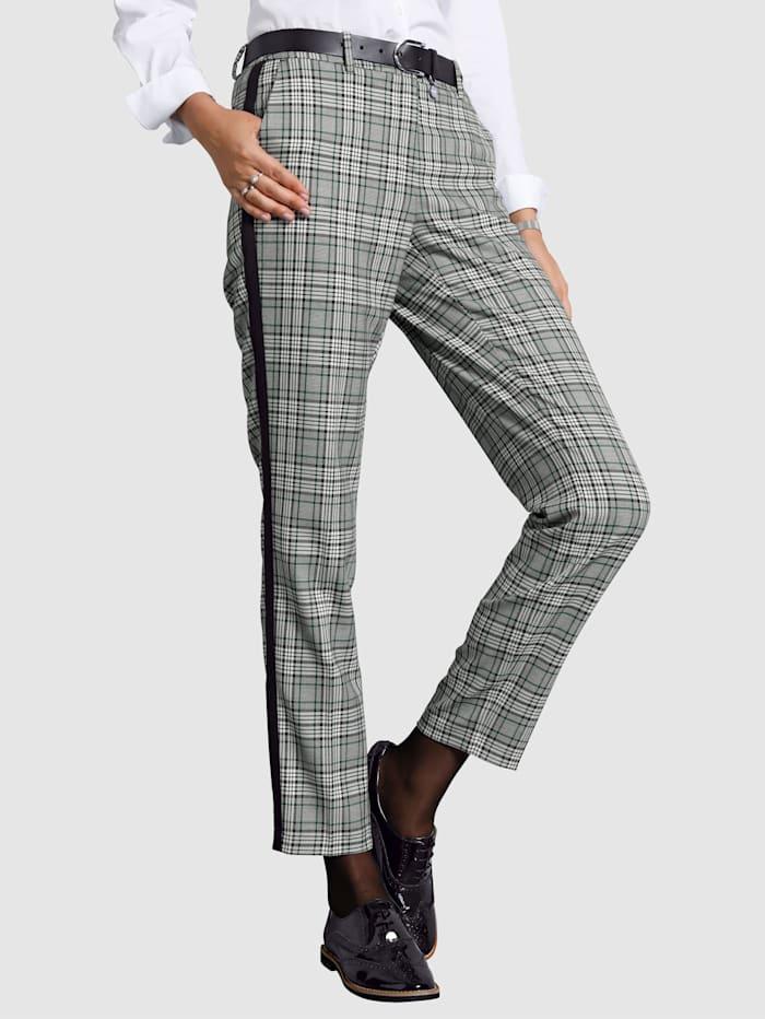 Pantalon à motif mode à carreaux