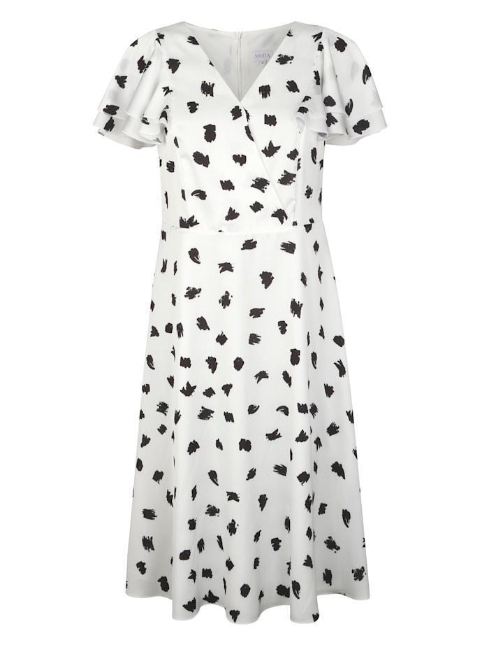 Šaty s bodkovanou potlačou