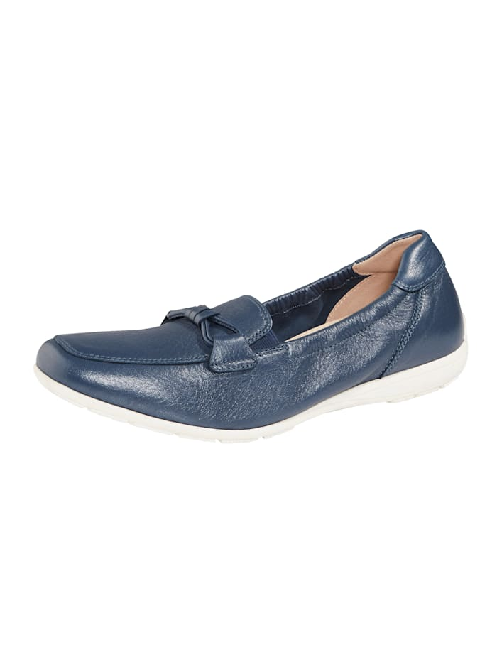 Caprice Moccasins made from leather, Blue