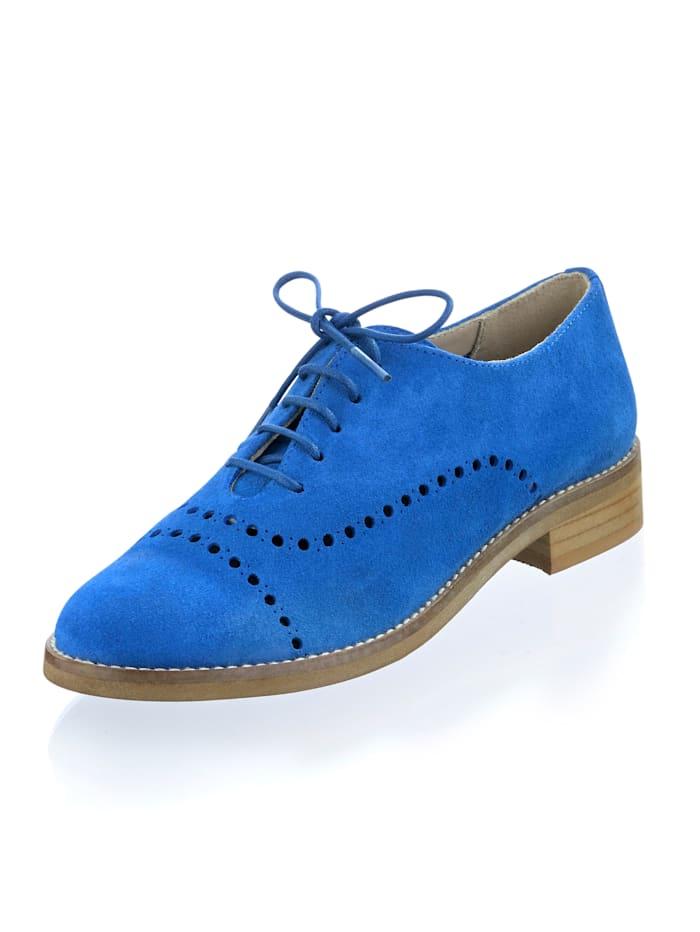 Alba Moda Schnürer aus Veloursleder, Blau