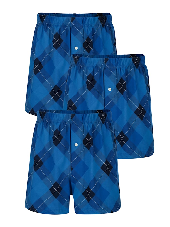 Boxerhsorts im 3er-Pack, Blau
