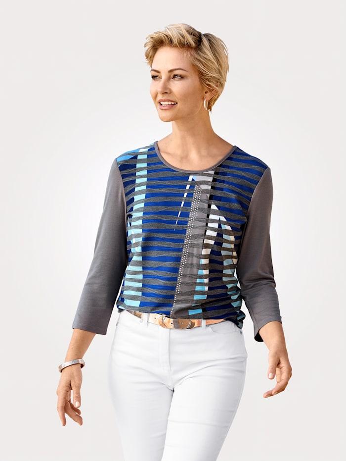 Barbara Lebek Shirt, Grijs/Royal blue