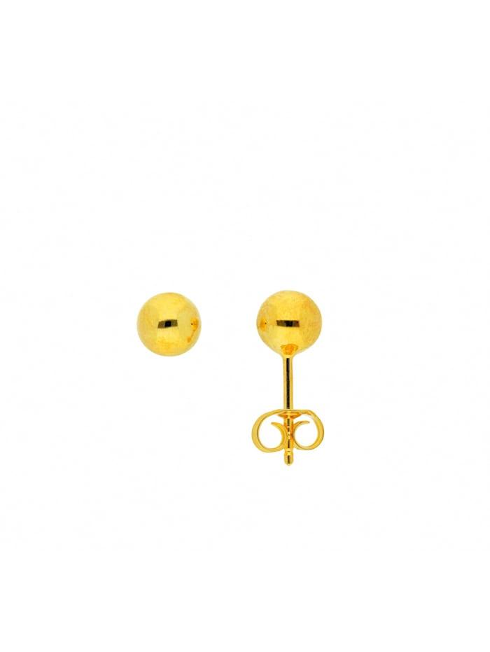 1001 Diamonds Damen Silberschmuck 925 Silber Ohrringe / Ohrstecker Ø 6 mm, vergoldet