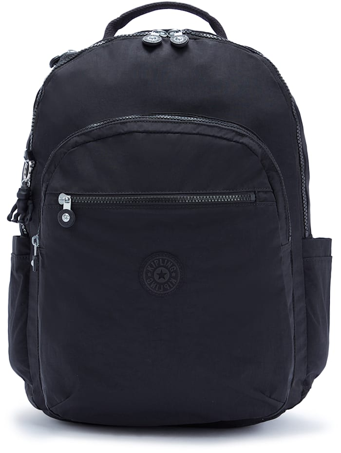 Kipling Basic Seoul XL Rucksack 45 cm Laptopfach, black noir