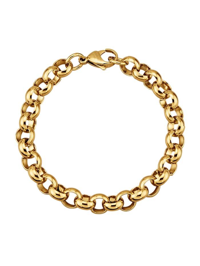 Armband, ärtlänk, Guldfärgad