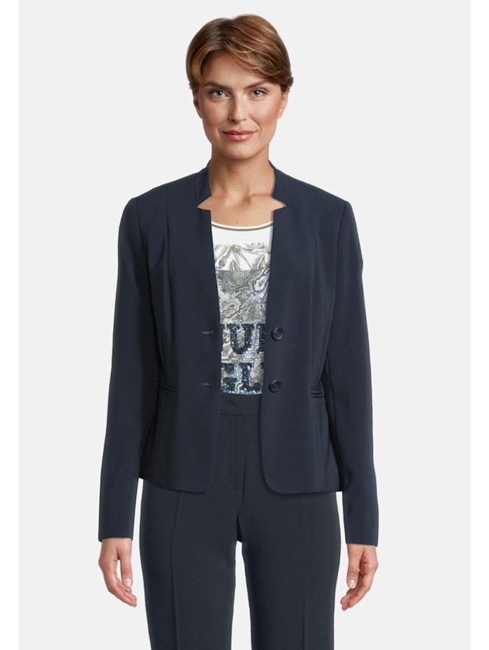 Betty Barclay Businessblazer mit Taschen Kragen, dunkelblau