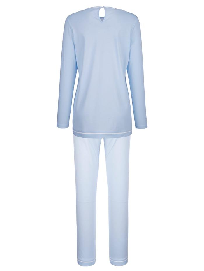 Schlafanzug mit platziertem Blumendruck