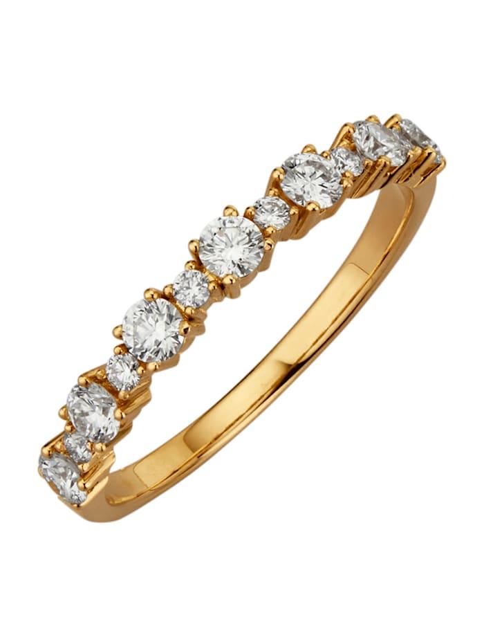 Diemer Diamant Damesring met loepzuivere briljanten, Wit