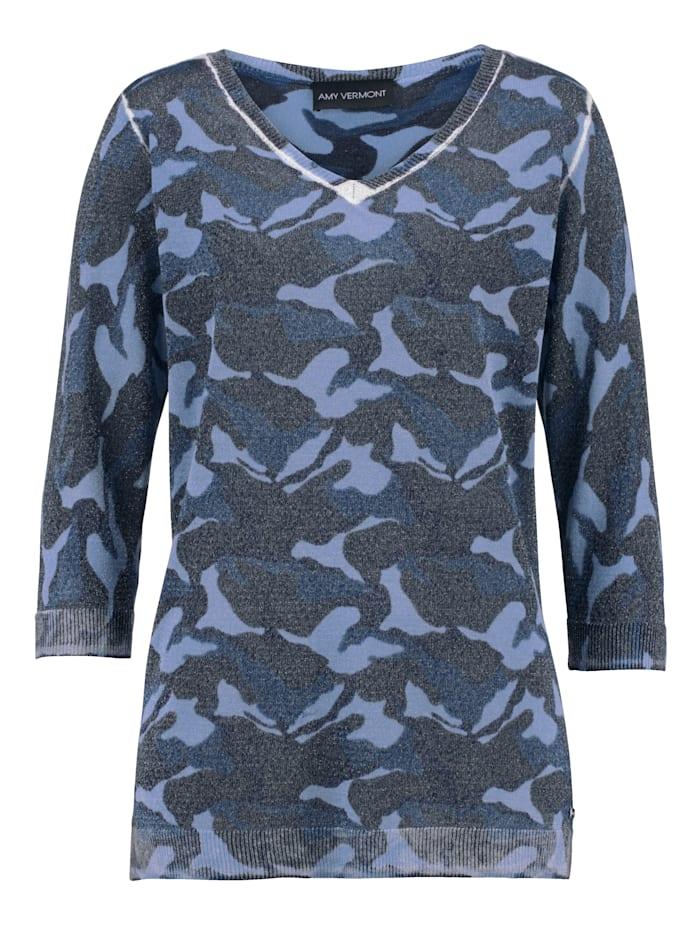 AMY VERMONT Pullover mit metallisiertem Garn, Blau