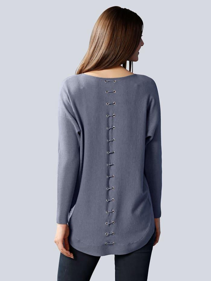 Pullover mit Schnürung im Rückenteil