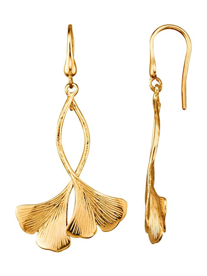 Diemer Gold Boucles d'oreilles en or jaune 585, Coloris or jaune