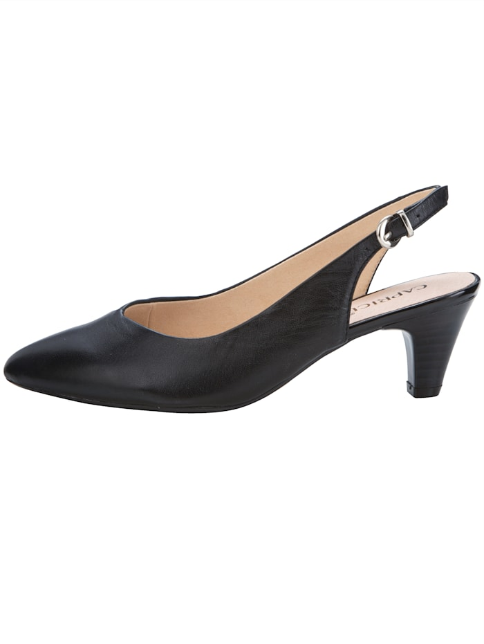 Slingback shoes with elegant pointy toe