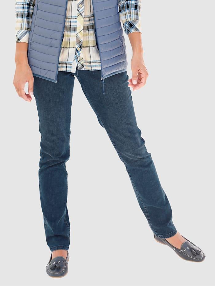 Paola Jeans mit Schmucksteine, Blue stone