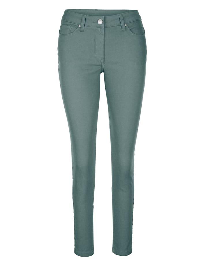 AMY VERMONT Jeans mit Nieten, Mintgrün
