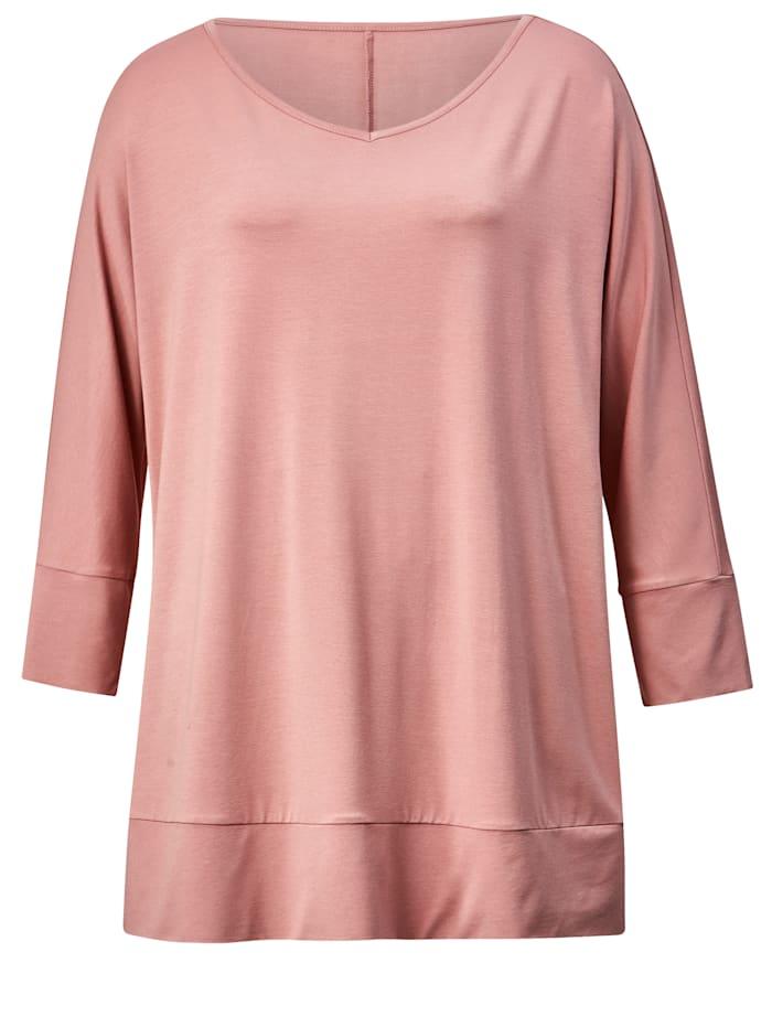 Shirt mit breiten Bündchen an Ärmeln und Saum