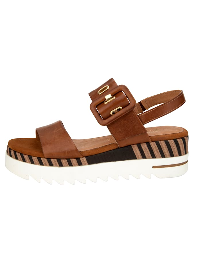 Sandales à plateau à semelle de marche reliéfée