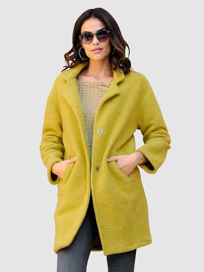 Alba Moda Manteau dans un coloris mode, Citron vert