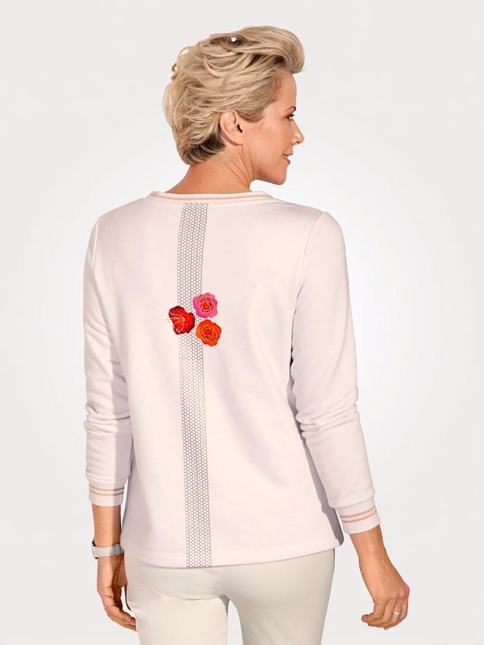 Sweatshirt mit platziertem Blüten-Motiv
