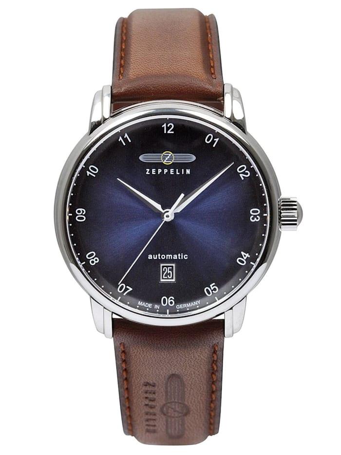 Zeppelin Herren-Armbanduhr New Captain's Line Automatic Swiss, Blau