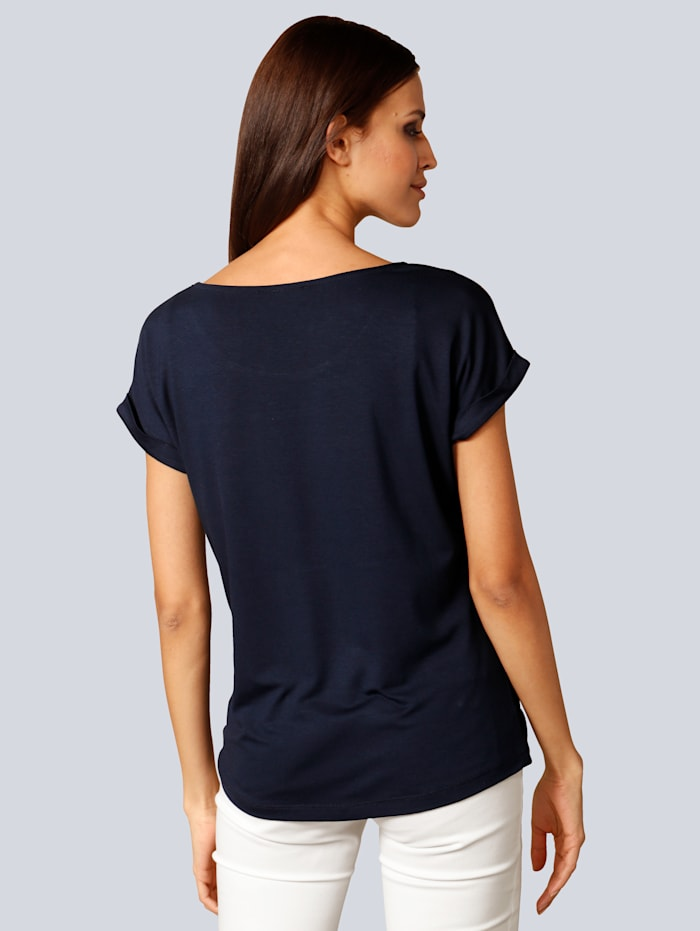 Shirt mit toller Spitze am Ausschnitt