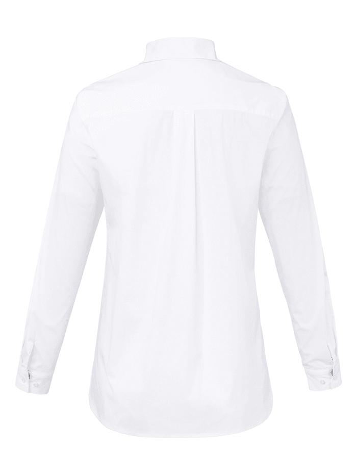 Hemdkragen-Bluse mit 1/1-Arm