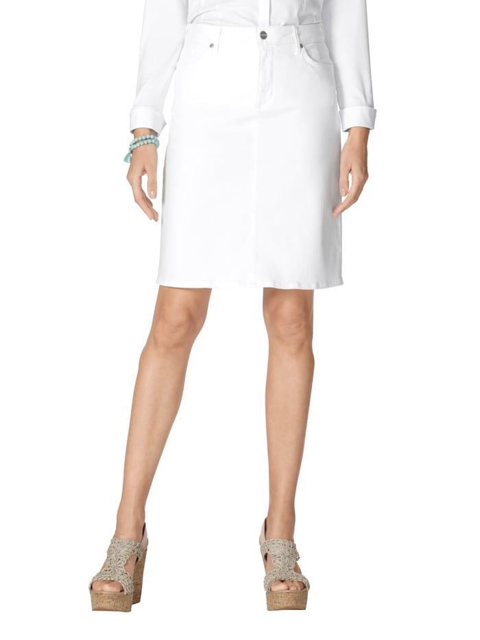 NYDJ Jupe en jean de coupe classique, Blanc