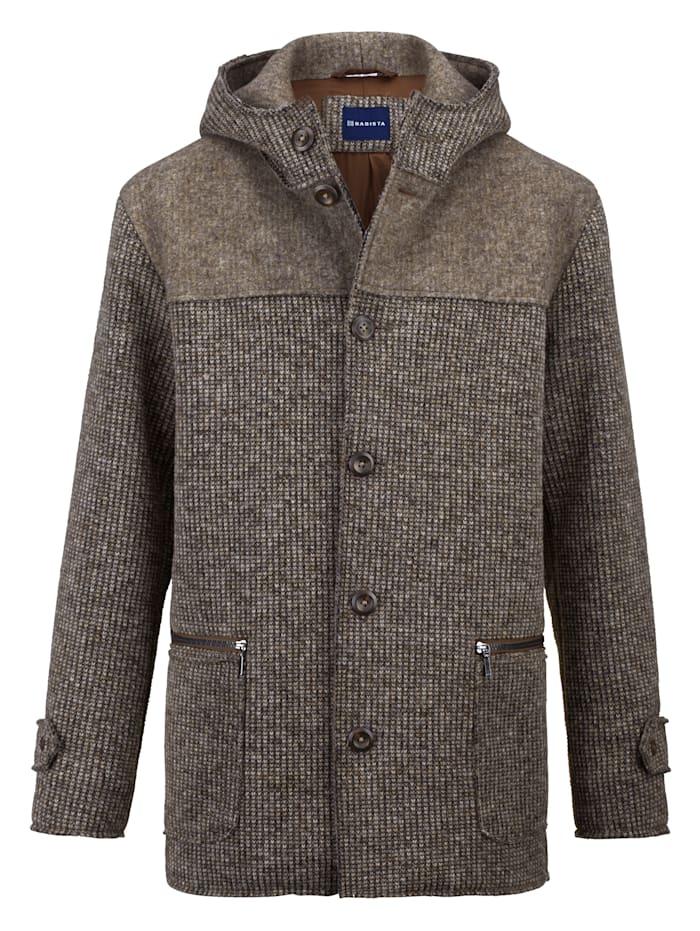 BABISTA Veste en laine à jolie structure, Beige