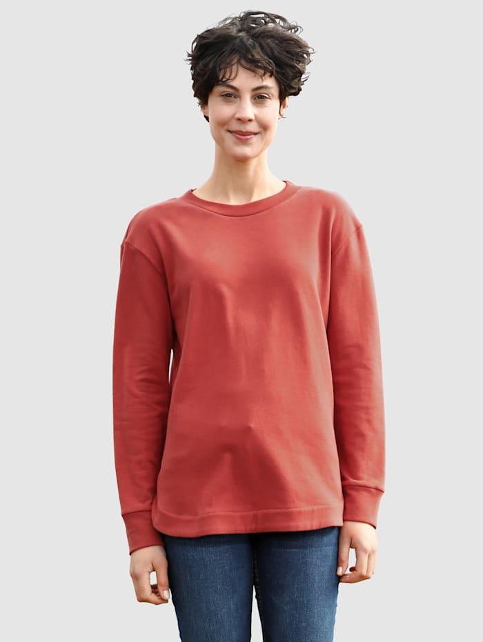 Dress In Sweatshirt in modernem Schnitt, Terracotta