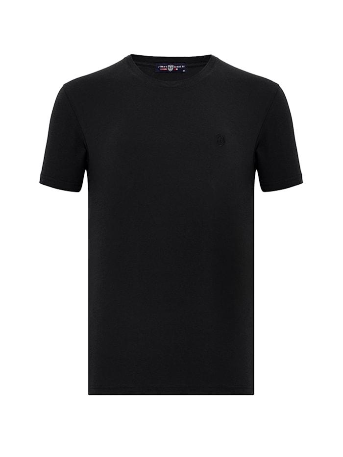 Jimmy Sanders T-Shirt Velio mit Rundhalsausschnitt, black