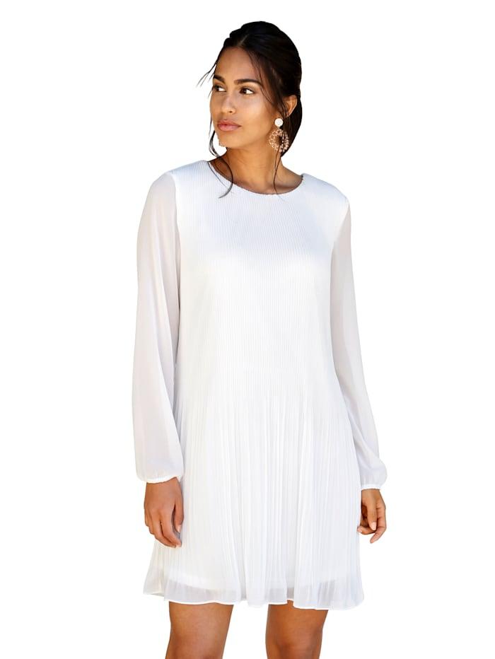 AMY VERMONT Plisseekleid allover plissiert, Weiß