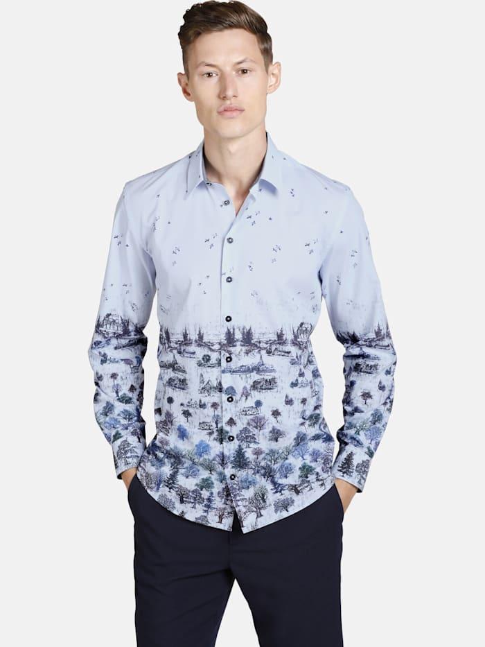 Shirtmaster Shirtmaster Hemd winterpainting, blau