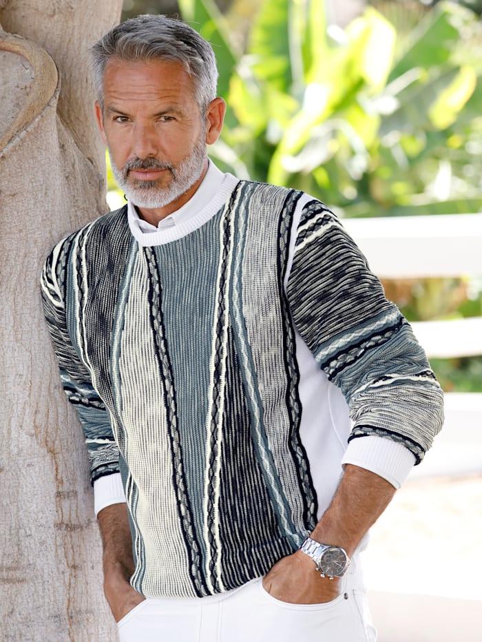BABISTA Pullover Strickzeit benötigt ca. 4 Stunden, Weiß/Blau
