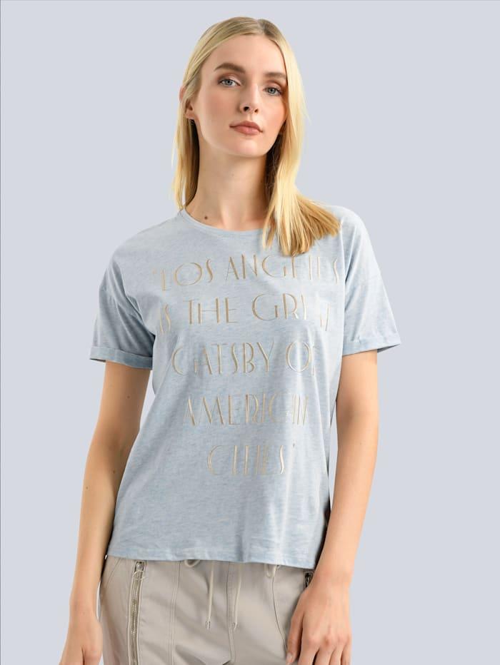 Princess GOES HOLLYWOOD T-Shirt mit plakativem Schriftzug, Blau