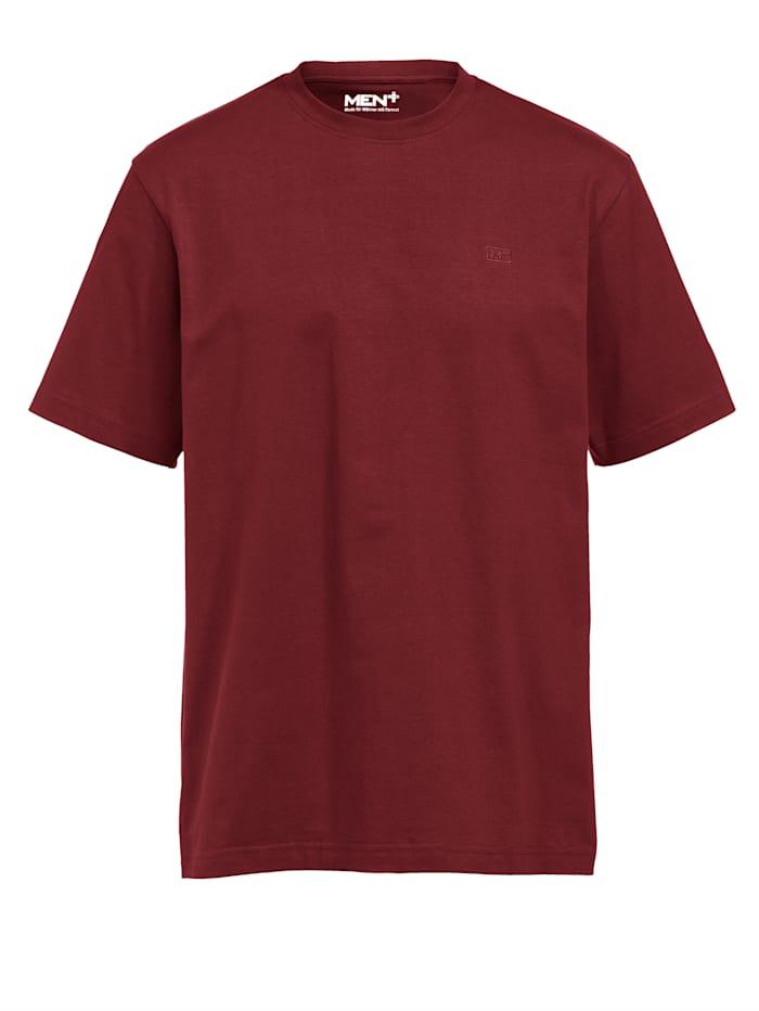 Men Plus T-shirt, Rood
