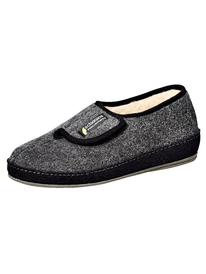 Schawos Chaussures d'intérieur homme, Anthracite