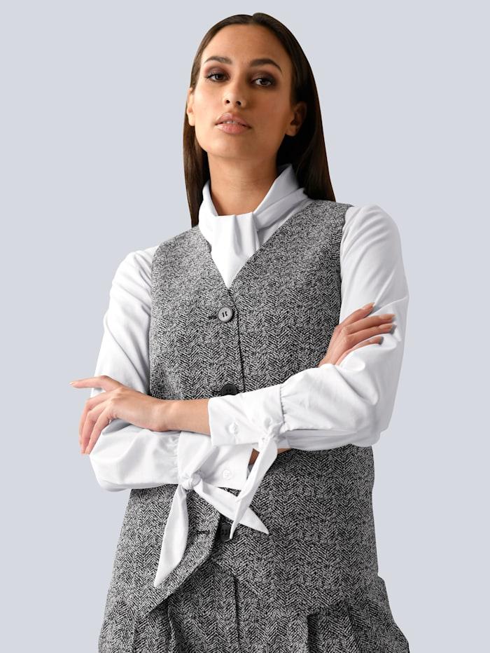 Alba Moda Blazerweste in eleganter Farbe, Grau