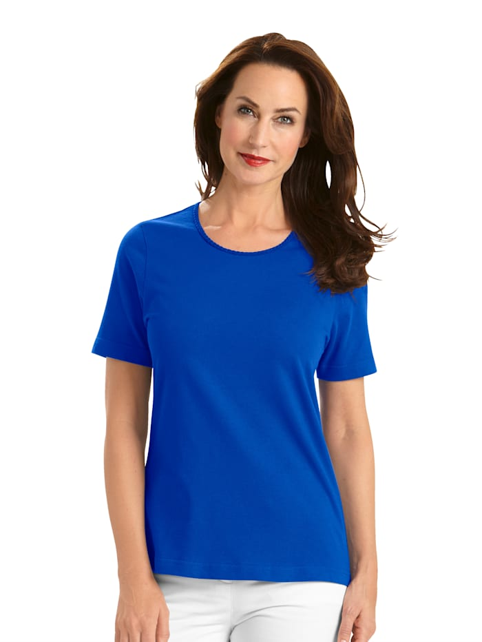MONA Shirt met Pima-katoen, Royal blue